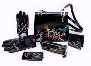 Aigner-Tasche mit Hundertwasser-Thema++